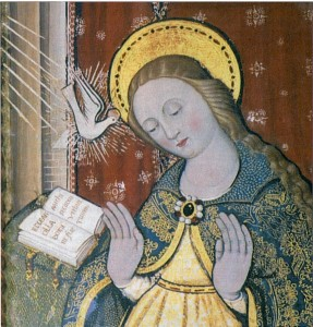 L'annonciation à la Vierge Marie