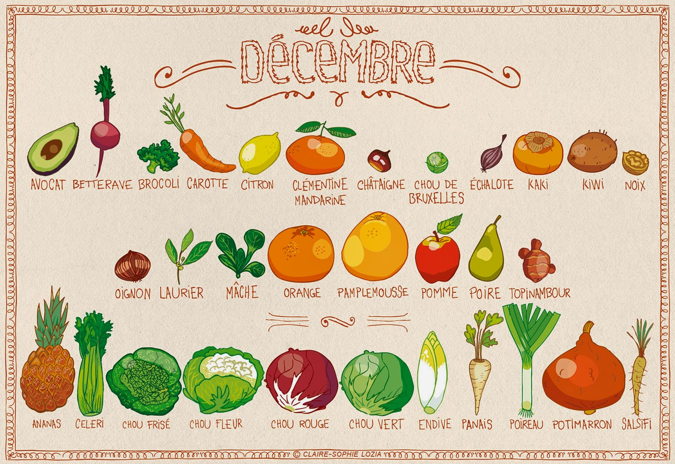 ab1f0c66ca4 Tous les fruits et légumes du mois de Décembre
