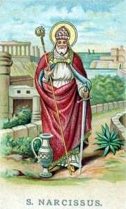Fête du 29 octobre : Saint Narcisse